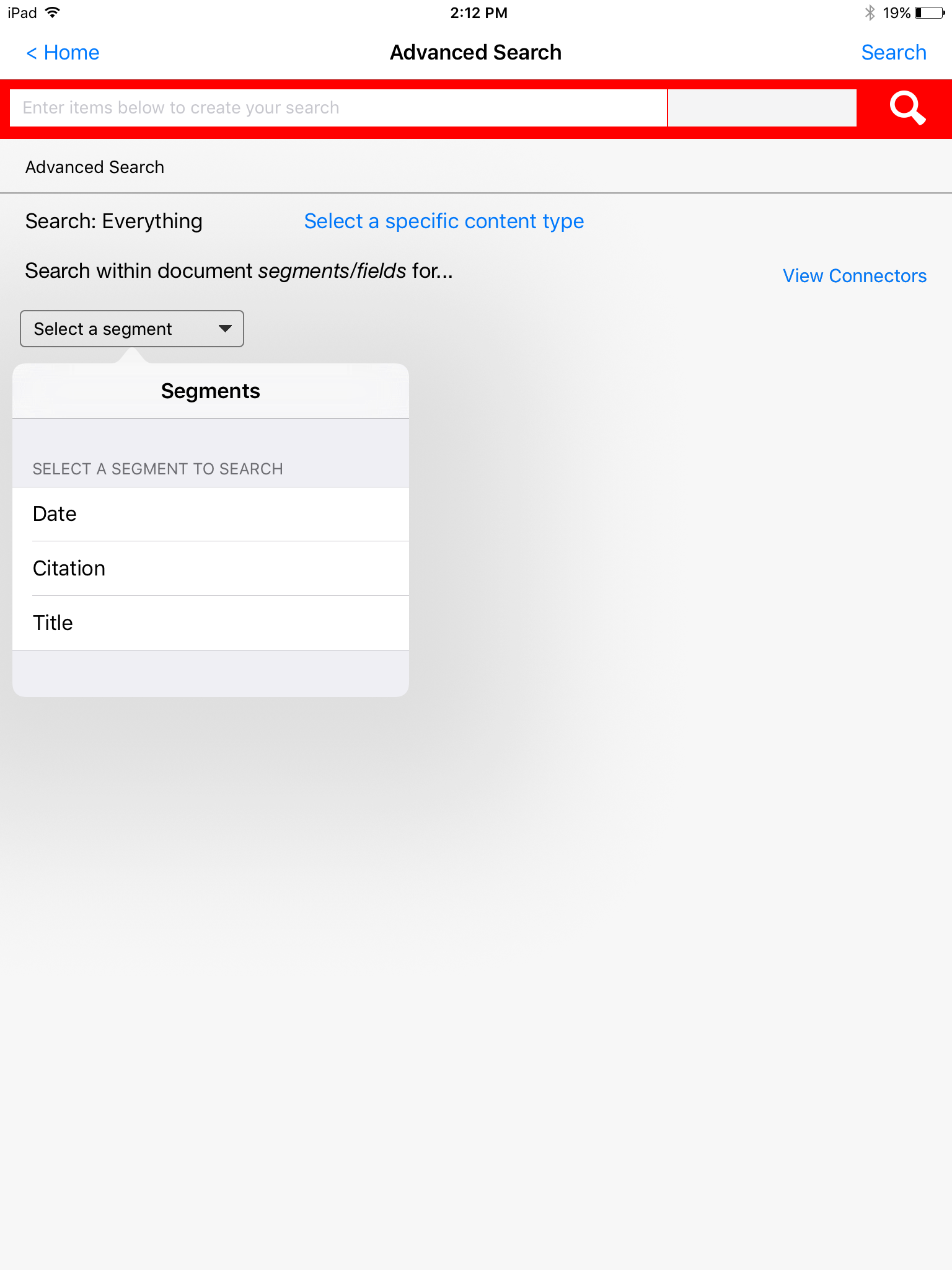 Advanced Search Forms on the Lexis Advance HD App