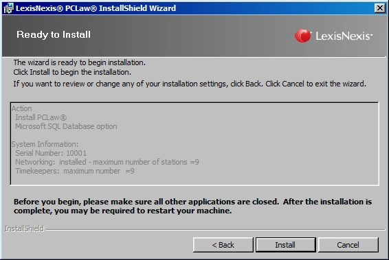 Installing/Upgrading PCLaw 16